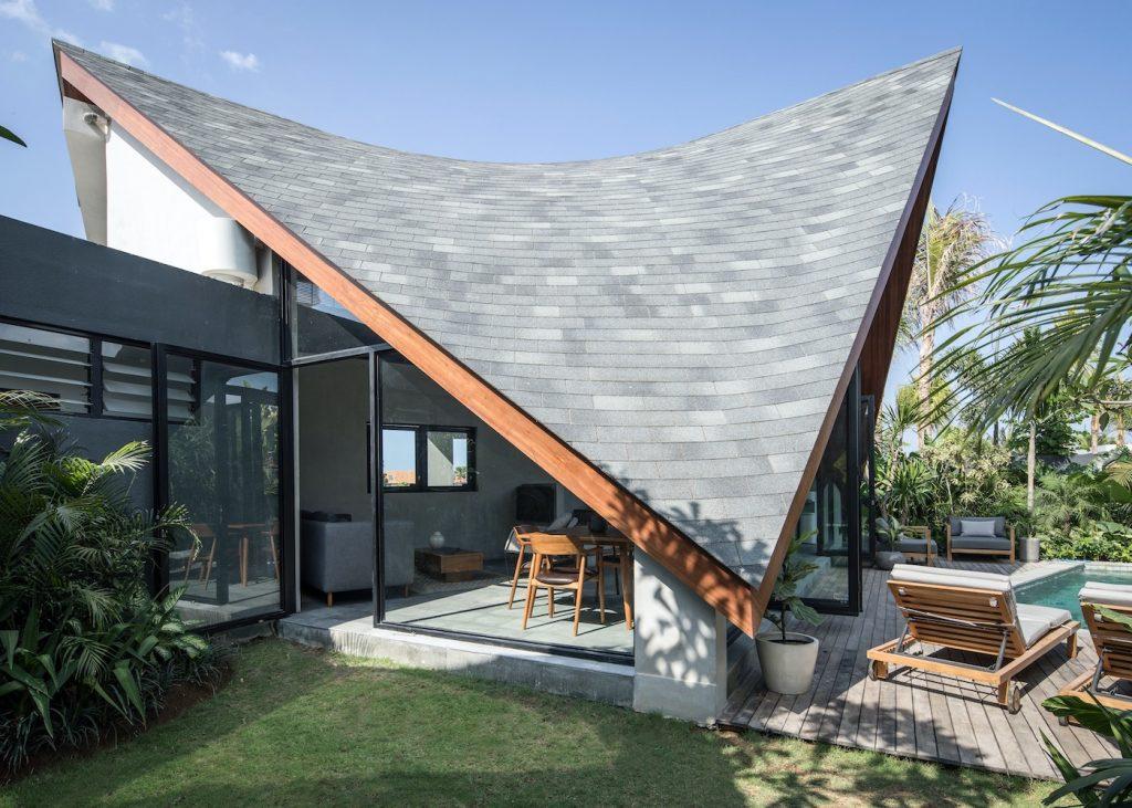 Exterior River Studio villa in Canggu, Pererenan - Bali Construction, building and contractor company in Indonesia